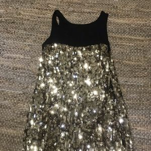Express Gold Sequin Dress